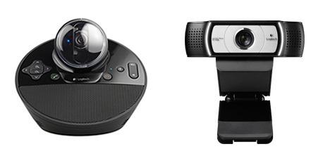 logitech-bcc950 & C930e webcams
