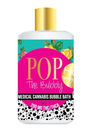 yummi karma, valentines day, bubble bath, pop the bubbly, cannabis