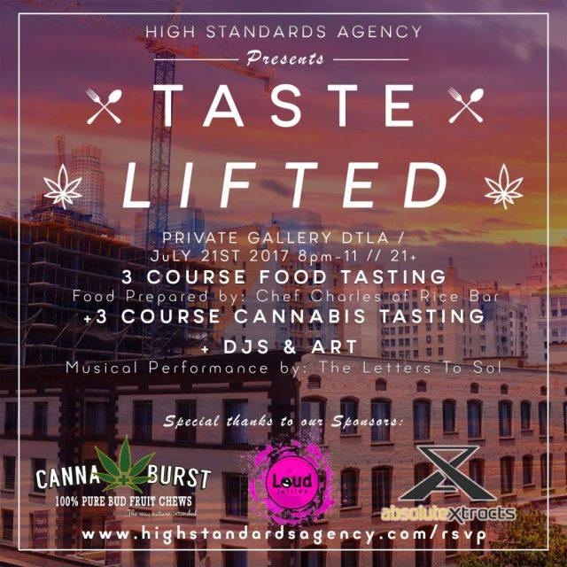Taste Lifted Cannabis Tasting Food Pairing