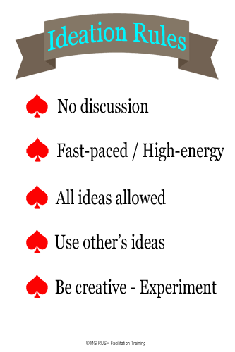 ground rules, ideation rules
