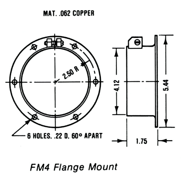 FM-4 Flange Mount Drawing - Max-Gain Systems, Inc.