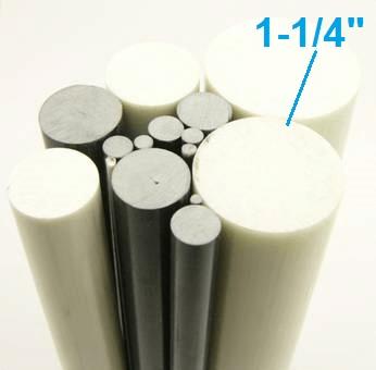 "1-1/4"" OD Round Solid Rod"