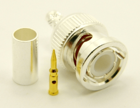 BNC-male, cable end, crimp-on, for LMR-195 RG-316 and RG-58 (P/N: 7005-58)