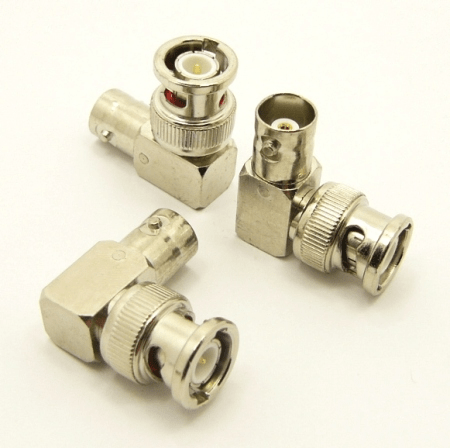 BNC-male / BNC-female Adapter, Right Angle (P/N: 7048-RA)