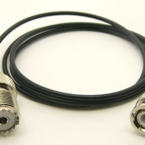 BNC-male / UHF-female with 36 inches of RG-174 coaxial cable (P/N: 7060-CBL-36)