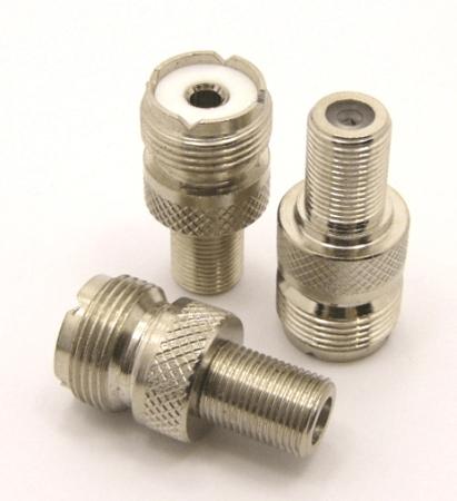 UHF-female / F-female Adapter (P/N: 7253)