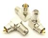 F-female / RCA-male Adapter, Right Angle (P/N: 7270-RA)