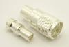 PL-259, UHF-male, cable end, solder-on, silver / Teflon, plus 1x UG-175 (SKU#: 7507-S) Reducer for UHF-male, solder on, connectors. UG-175 for RG-142, RG-400, RG-58, RG-58A/U, LMR-195, LMR-200, Belden 7807, Belden 8219, Belden 8259, and Belden 9201 coaxial cable. (P/N: 7500-58)