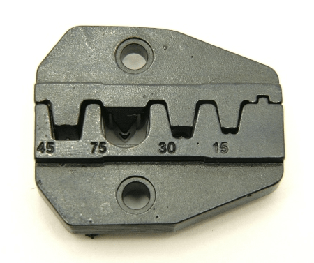 Crimper tool, die for ratcheting crimper for power pole connectors (P/N: 7505-DIE-PP)