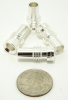 Reducer for UHF-male and N-male solder-on connectors, Silver plated, UG-176 (P/N: 7508-S)