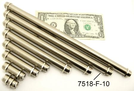 """UHF-Female / UHF-Female (10"""" bulkhead) (P/N: 7518-UHF-F-10)"""
