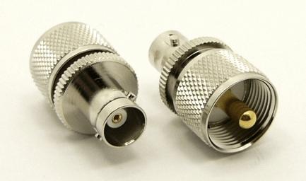 UHF-male / BNC-female Adapter (P/N: 7519)