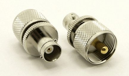 UHF-male / BNC-female Adapter (P/N: 7519)