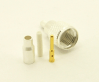 Mini-UHF-male, cable end, crimp-on, RG-174, RG-178, RG-188, RG-196, RG-316, LMR-100A and Belden 8216 coaxial cable. (P/N: 7600-174)