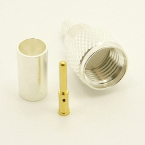 Mini-UHF-male, cable end, crimp-on for RG-223 RG-59 LMR-240 and RG-8X mini 8 (P/N: 7600-58)