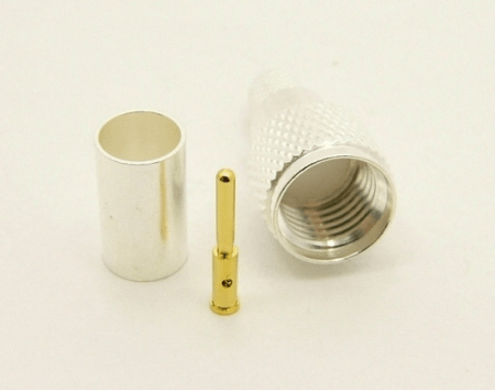 Mini-UHF-male, cable end, crimp-on for RG-223 RG-59 LMR-240 and RG-8X mini 8 (P/N: 7600-8X)