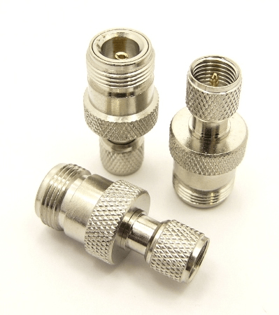 N-female / mini-UHF-male Adapter (P/N: 7608)