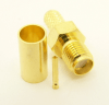 SMA-female, cable end, crimp-on, for LMR-195 RG-316 and RG-58 (P/N: 7806-58)