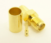 SMA-female, cable end, crimp-on for RG-223 RG-59 LMR-240 and RG-8X mini 8 (P/N: 7806-8X)