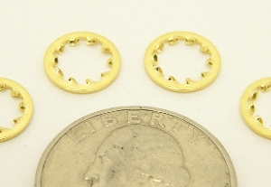 Star lock washer for standard SMA connector thread, to fit over standard SMA female connectors (P/N: 7815-STAR)