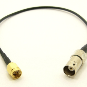 BNC-female / SMA-male with 10 inches of RG-174 coaxial cable (P/N: 7820-CBL-10)