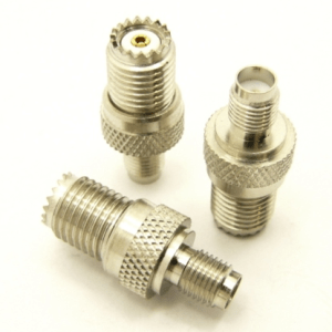 mini-UHF-female / SMA-female Adapter (P/N: 7832)