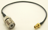 UHF female / SMA female, 10 inch strain relief jumper cable - 7839-CBL-10