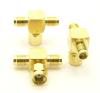 RP-SMA-female / RP-SMA-male / RP-SMA-female Adapter, Tee (P/N: 7852-T)