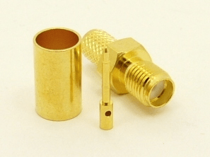 RP-SMA-female, cable end, crimp-on for RG-223 RG-59 LMR-240 and RG-8X mini 8 (P/N: 8896-8X)