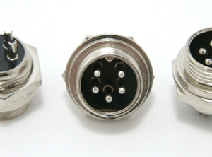 5-pin chassis mount female microphone connector (P/N: 9305-PANEL)