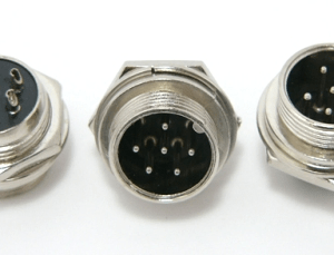 6-pin chassis mount female microphone connector (P/N: 9306-PANEL)