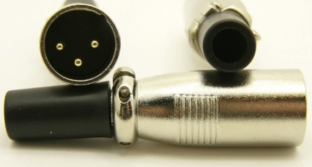 XLR male, cable end, 3 pins, Mic Plug (P/N: 9400)