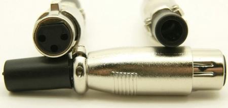 XLR female, cable end, 3 pins, Mic Plug (P/N: 9410)