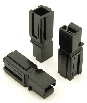 Power Pole Housing (BLACK) for 15, 30, and 45 amp contacts. Good for Wire Gauges 10-18 (P/N: 9601-B)