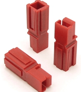 Power Pole Housing (RED) for 15, 30, and 45 amp contacts. Good for Wire Gauges 10-18 (P/N: 9601-R)