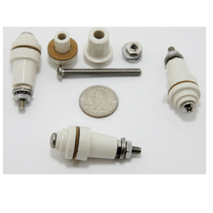 FT-IN-01 Ceramic Feed Through Insulator - High Voltage - Max-Gain Systems, Inc.