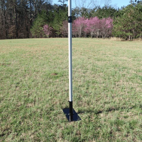 Ground Mount Assembled with Fiberglass Push-Up Mast in use
