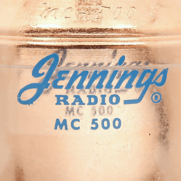 Jennings MC-500-20S Label Max-Gain Systems, Inc. www.mgs4u.com