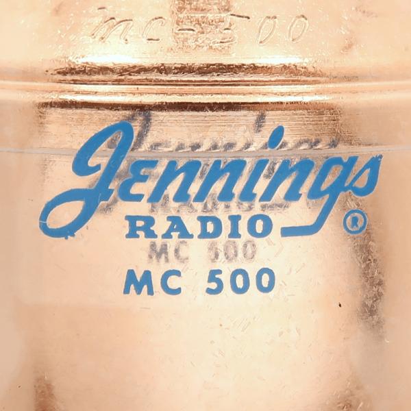 Jennings MC-500-20S Label Max-Gain Systems, Inc. www.mgs4u.com