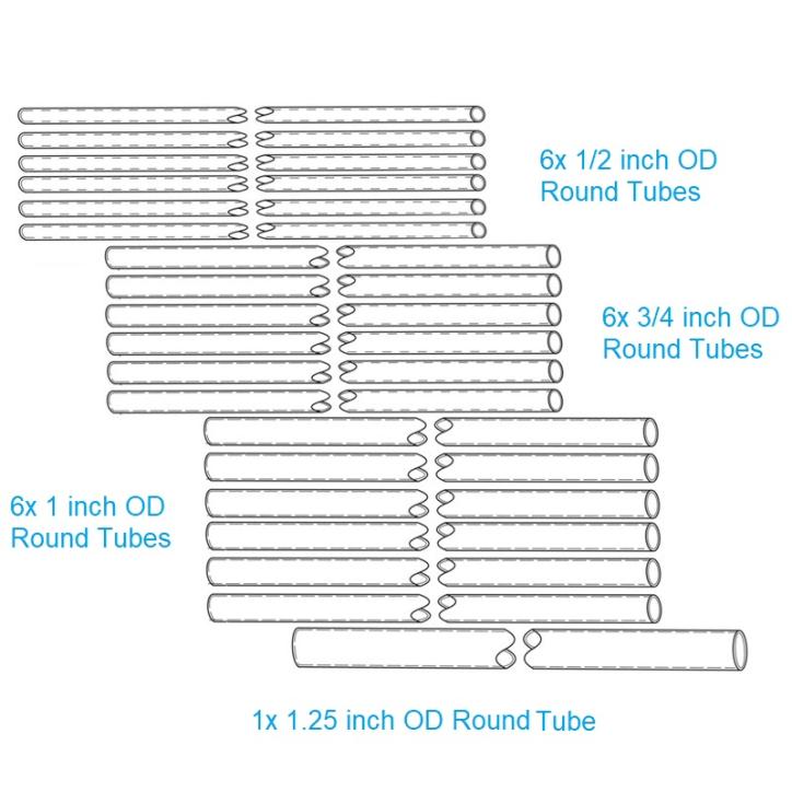 Hexkit-2 parts diagram fiberglass spreader arms