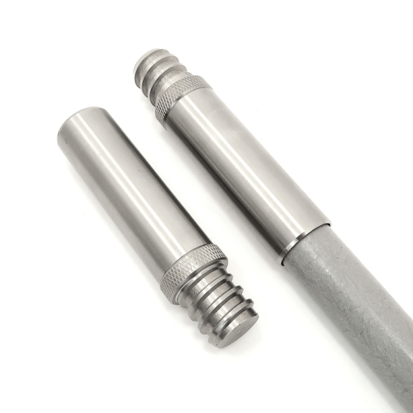 PP-34ATACH-S04 0.75 inch Stainless Steel Painter Pole Male 34x5 ACME Threaded Tip
