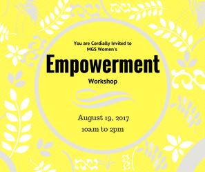 MGS Women Empowerment Workshop