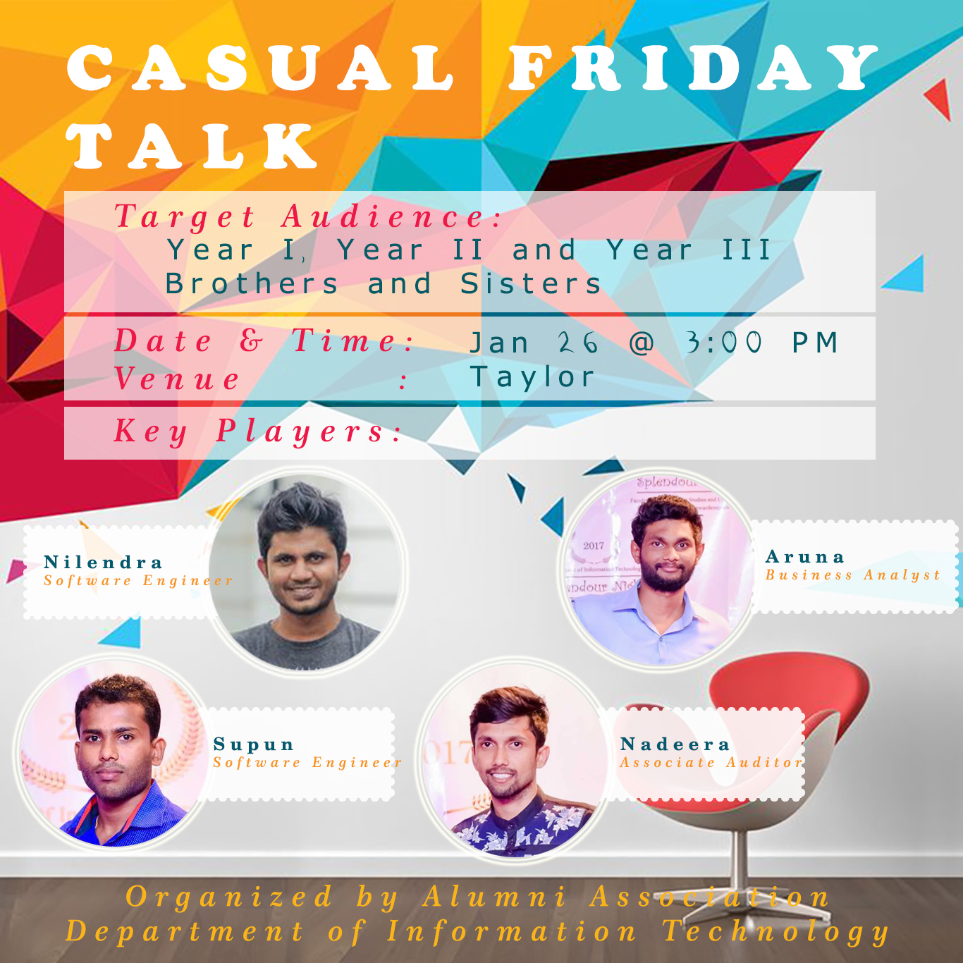 Casual Friday Talk – 1st Meetup