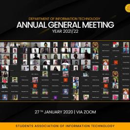 Annual General Meeting of the Students Association of IT