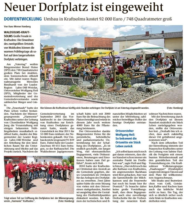 30.05.2017 Neuer Dorfplatz ist eingeweiht