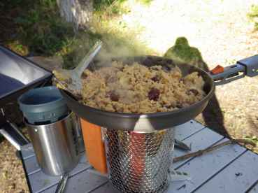 Breakfast on the Biolite... Eggs and Beans!