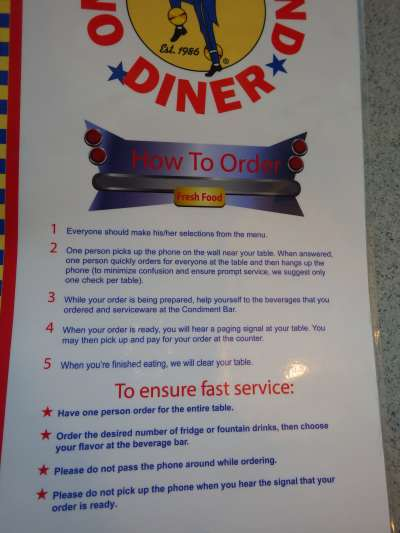 Literally a one man (woman) operation at this diner.