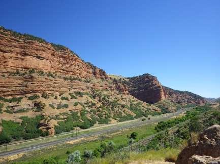 Red rock between Wyoming and Utah.