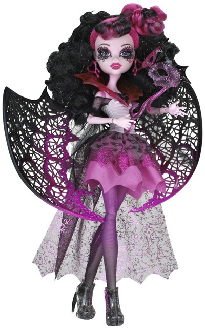Draculaura embraces her v&ire heritage with an elaborate Halloween costume. It begins with an off-the-shoulder dress incorporating a white bunched bodice ...  sc 1 st  MHcollector.com & Monster High Ghouls Rule Draculaura - MHcollector.com