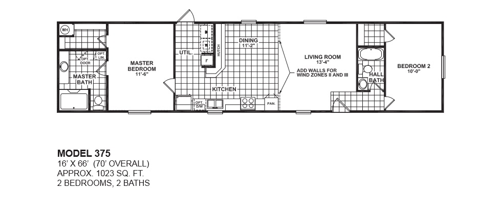 model-375-16x66-2bedroom-2bath-oak-creek-mobile-home | tiny houses
